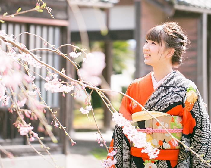 成人式前撮り-桜-